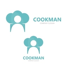 chef and cooking logo design template vector image