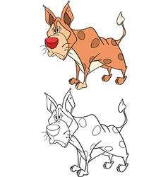 Cute golden jackal cartoon vector