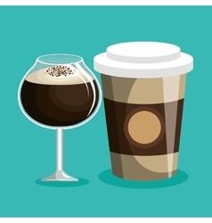 Delicious coffee shop products vector