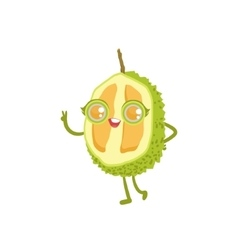 Durian girly cartoon character vector