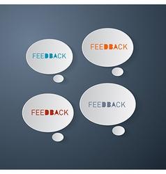 Feedback Icons - Paper Bubbles vector image vector image