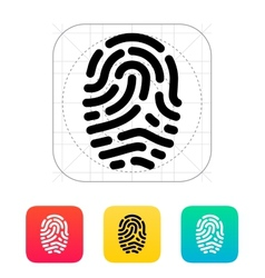 Fingerprint scanner icon vector