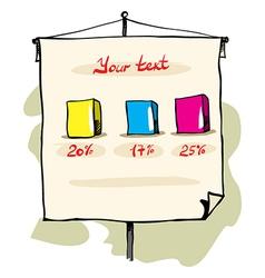 flip chart vector image vector image