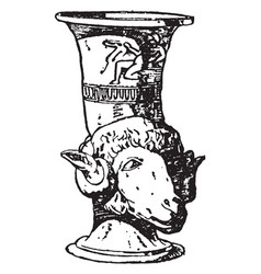 Greek vase is a drinking horn often shaped vector