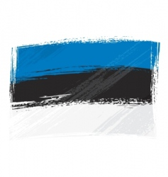 grunge Estonia flag vector image