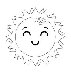 isolated kawaii sun face vector image vector image