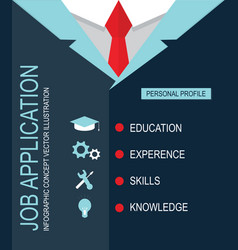 Job application personal profile vector