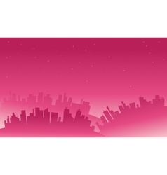 Landscape big city silhouettes vector