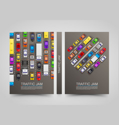Modern transport vertical banners road flyer set vector