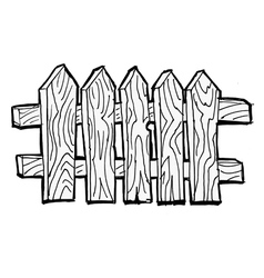 Old wooden fence vector image vector image