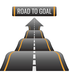 road to goal abstract way to success achievement vector image