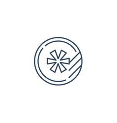 round token logo concept line icon vector image