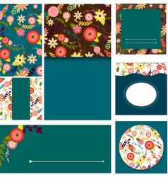set of templates for invitationswedding vector image vector image