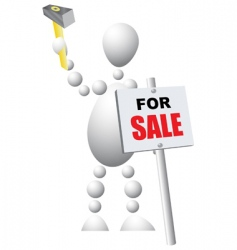 sign announcing the sale vector image