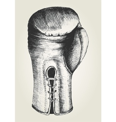 Sketch of a boxing glove vector