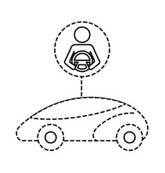 Smart or intelligent car driver autonomous vector