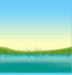 Spring lake banner vector