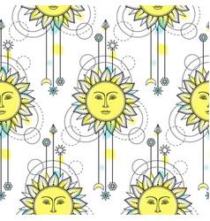 sun modern seamless pattern vector image