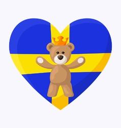 Swedish Royal Teddy Bear vector image vector image
