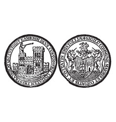There are two seals representing the cit of vector