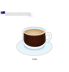 Traditional hot coffee popular drink in australia vector
