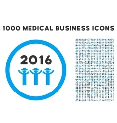 2016 guys dance icon with 1000 medical business vector