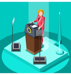 Election infographic politic work isometric people vector