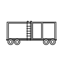 Delivery container isolated icon vector
