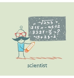 scientist wrote on the blackboard formula vector image