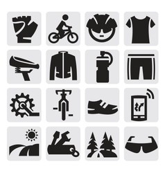 Biking icon vector