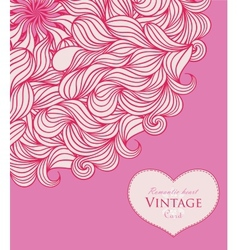 Pink template design for card vector