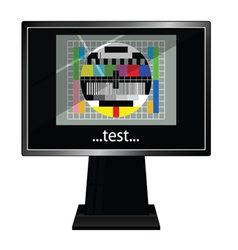 Lcd tv with test vector