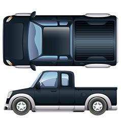 A black pickup vector
