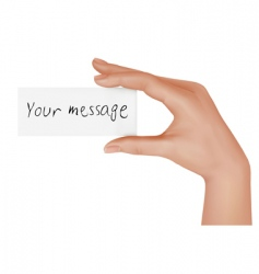 Hand with message vector
