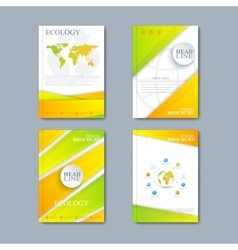 Modern set of brochures in the ecology vector