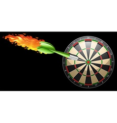 Flaming dart and board vector