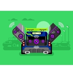 Car audio system vector