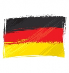 grunge germany flag vector image
