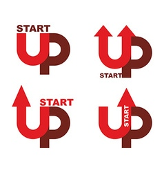 Startup logo character set for commencement of vector
