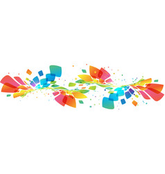 Abstract multicolored wave on white vector