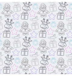 abstract seamless Christmas pattern vector image vector image