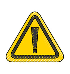 alert sign isolated icon vector image