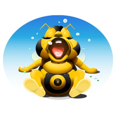 baby bee 1 vector image vector image
