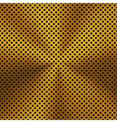 Background with Circular Gold Metal Texture vector image