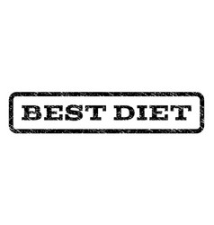 best diet watermark stamp vector image vector image
