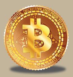 bitcoin golden vector image