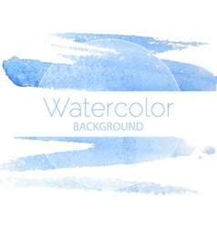 Blue watercolor background blue text vector image
