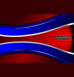 Business modern red blue background vector