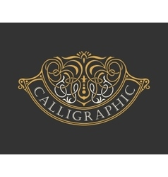 Calligraphic Luxury logo Emblem ornate decor vector image vector image