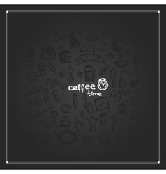 Coffee time frame for your design vector image vector image